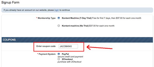 KM coupon applied screenshot
