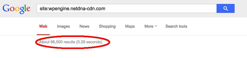 wpengine-cdn-google-results