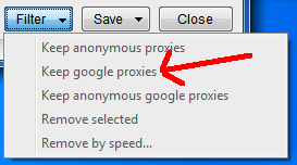 Manage proxies