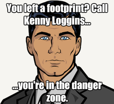 Sterling archer on footprints